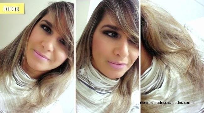 Antes e depois usando violeta genciana
