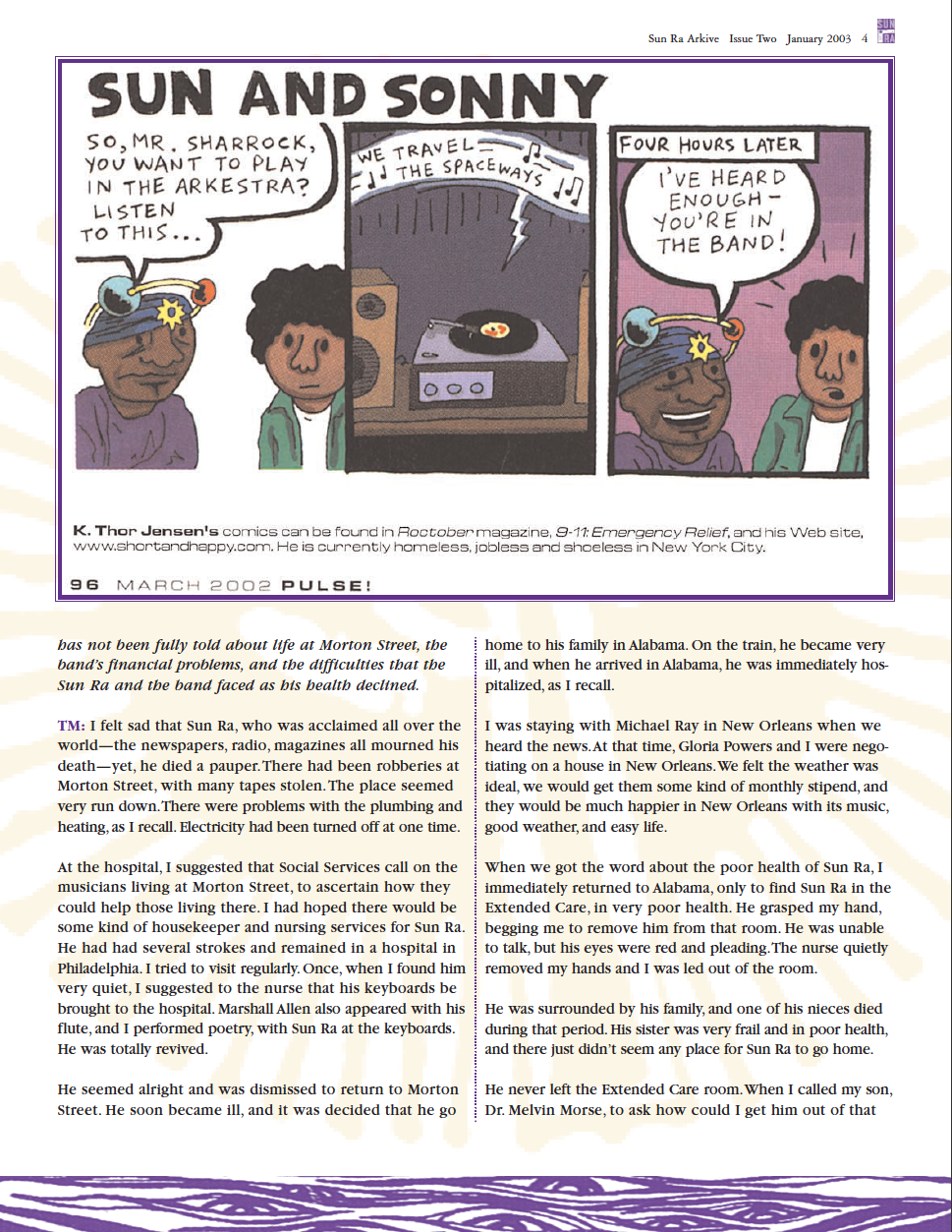 sun ra interviews and essays Sun ra: interviews & essays jazz article by florence wetzel, published on  february 14, 2011 at all about jazz find more book reviews.