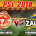 Peshawar Zalmi Vs Islamabad United 4th Match PSL 2018