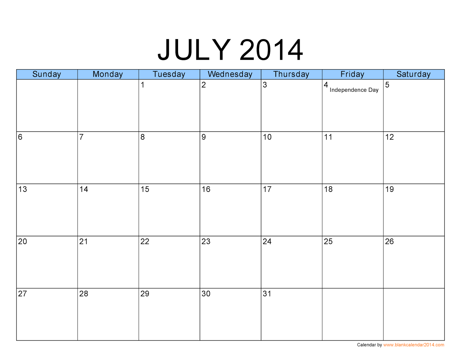 Printable Calendar Free July 2014 Cademic Calendar Office - 1600x1237 ...