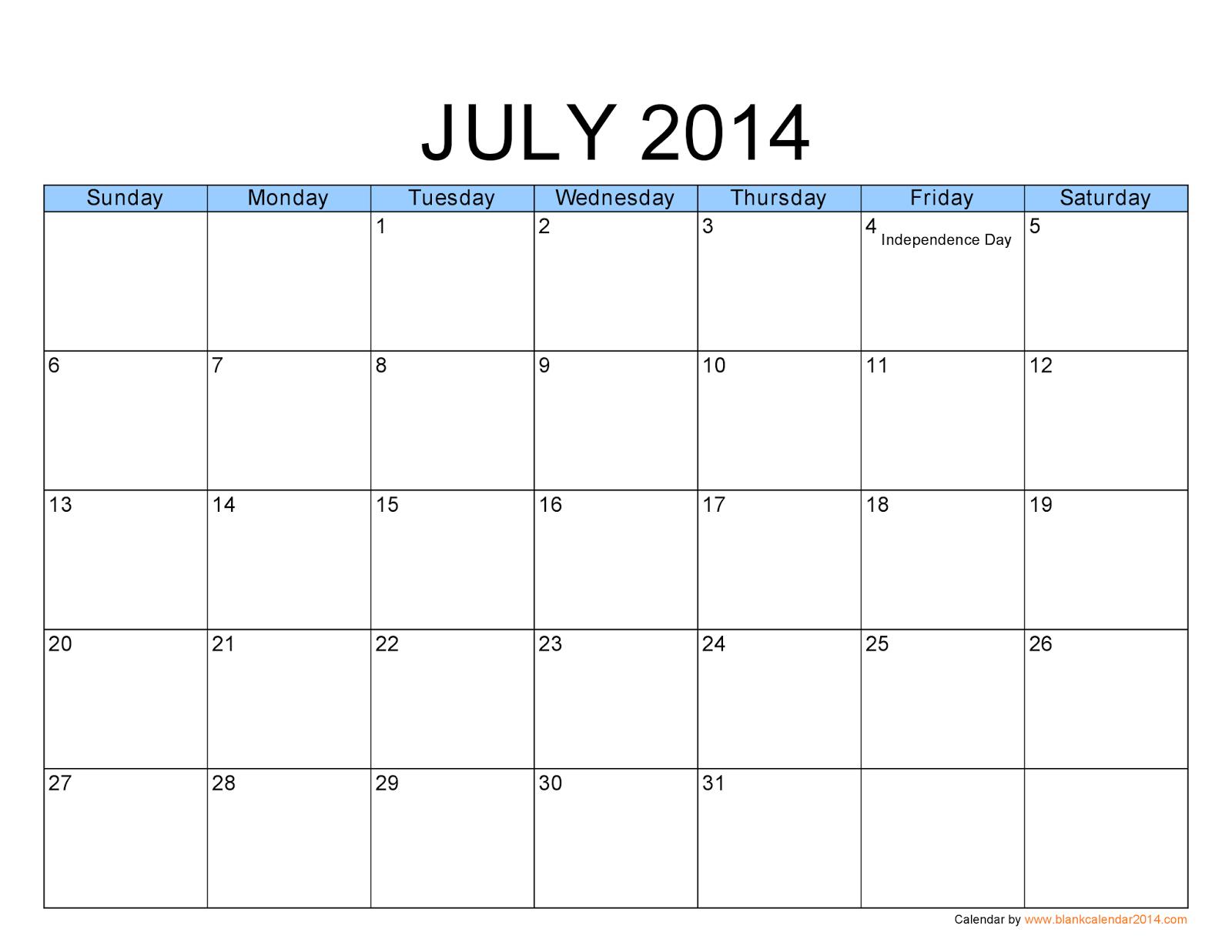 printable+calendar+july+2014