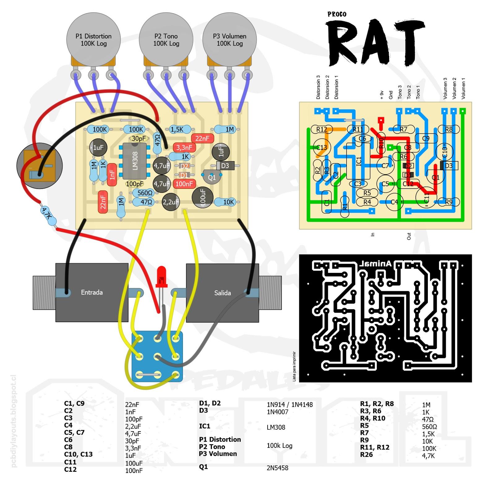 pcb diy layouts  proco rat