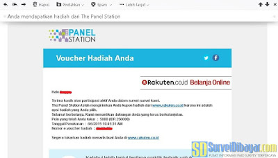 Voucher Rakuten.co.id dari The Panel Station Indonesia | SurveiDibayar.com
