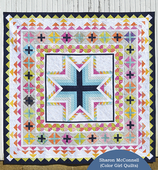 Pixie Medallion Quilt Designed by Sharon McConnell of Color Girl Quilts