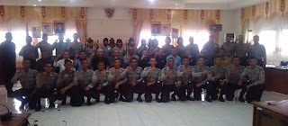 Kegiatan Outbond anggota Polres Kabupaten Sekadau Selasa, 21 Maret 2017 dengan DPRD Sekadau perkenalan Anggota baru yang bertugas di Kabupaten Sekadau