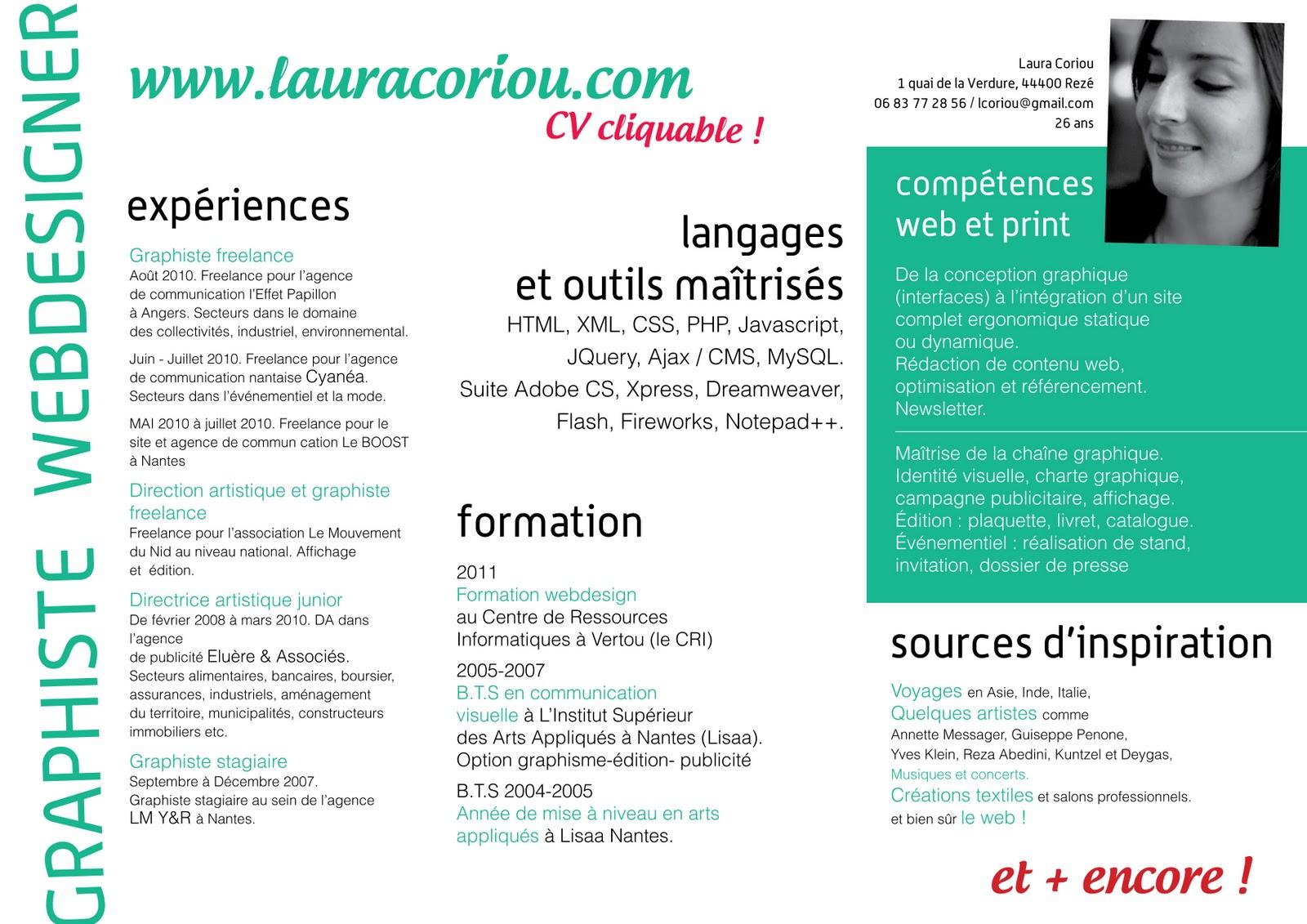 cv graphiste competences