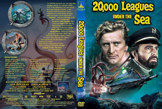 20,000 Leagues Under the Sea (1954) DVD Cover