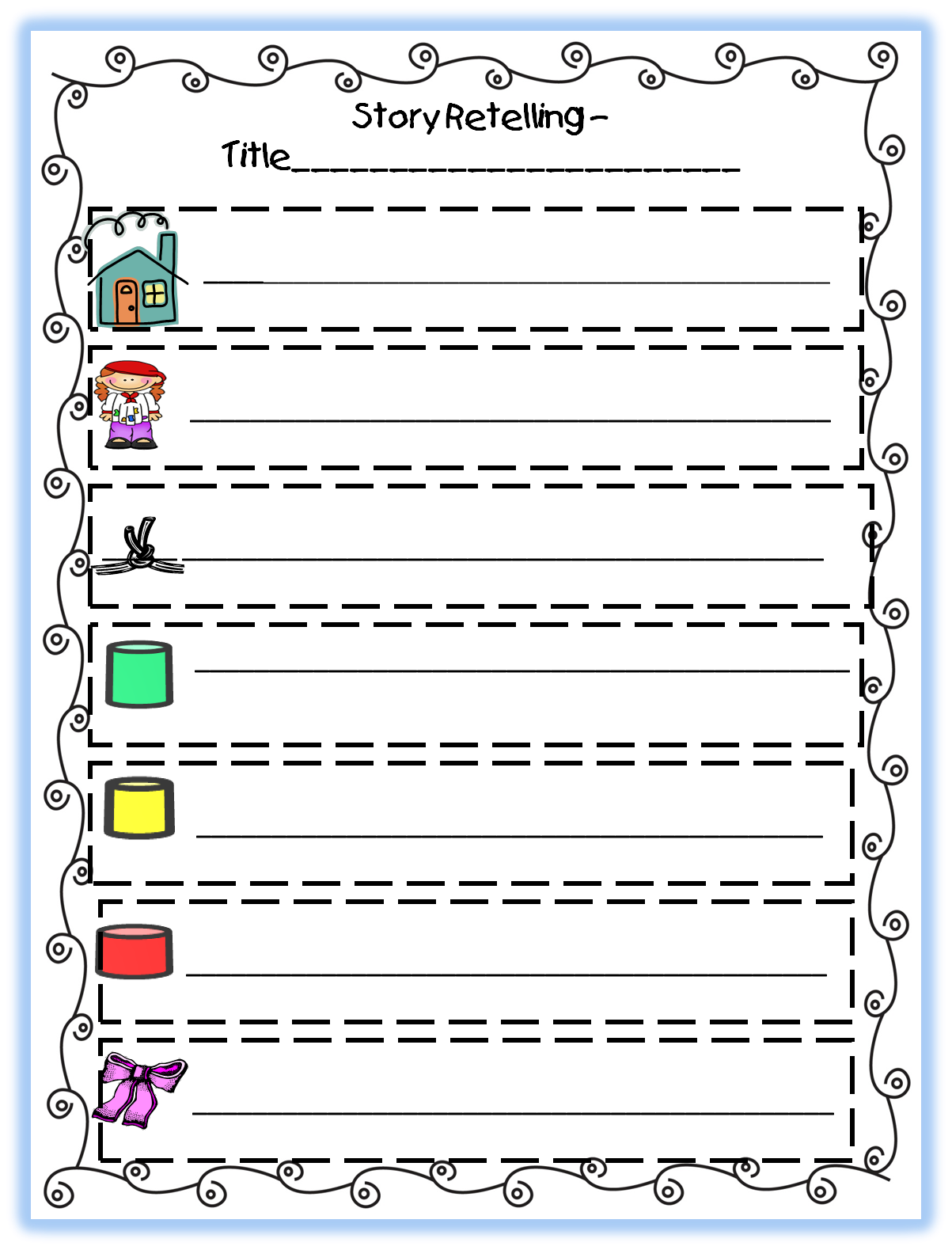 New 160 First Grade Retelling Worksheet