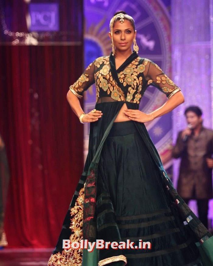 Candice Pinto, Sonam Kapoor Pics in White Saree - IIJW Finale 2014