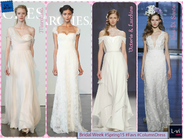 [SS15] Bridal dresses: Column dress  L-vi.com