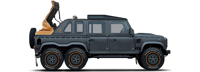 Land Rover Rebrands, Goes on 6 by 6 Doors, Tyre and Shape