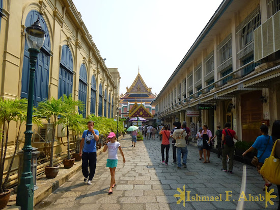Road to the temple of the Emerald Buddha in Bangkok Grand Palace