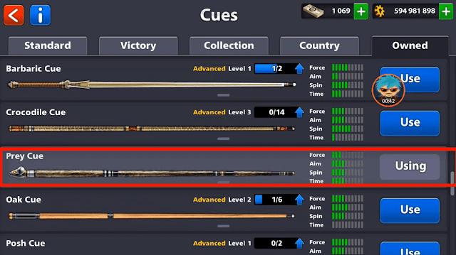 Prey Cue 8 ball pool Link Reward