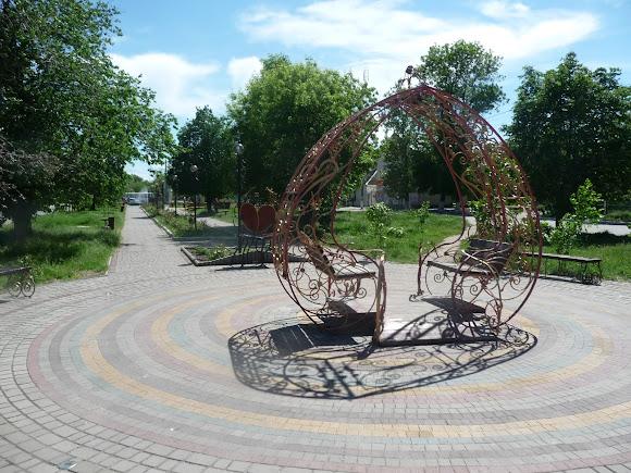 Генічеськ. Херсонська область. Проспект Миру. Пішохідна зона