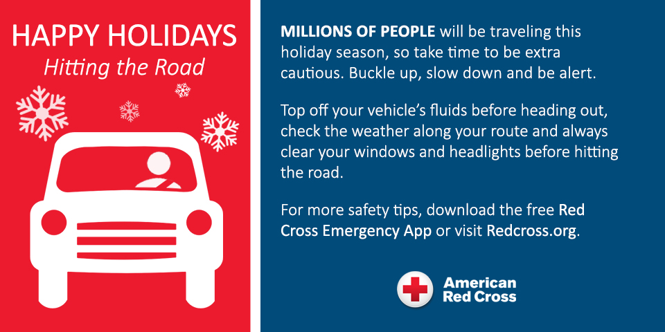 Red Cross Offers Top 10 Holiday Driving And Travel Tips