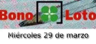 Sorteo 75 de la lotería Bonoloto miércoles 29 de marzo de 2017