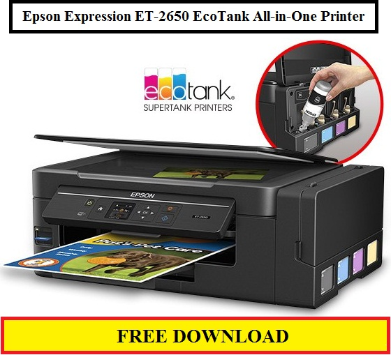 Epson Expression ET-2650 EcoTank All-in-One Printer, Download Driver For Windows / Mac Os