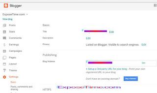 Blog ki settings kaise kare