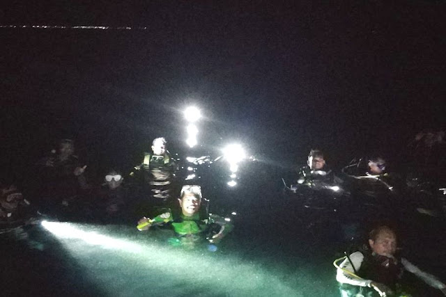 POSSI Lakukan Penyelaman Malam Dan Penyelamatan Bawah Air, Di Perairan Selayar