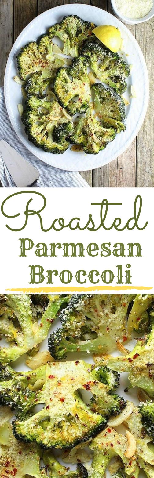 ROASTED PARMESAN BROCCOLI #broccoli #vegetarian