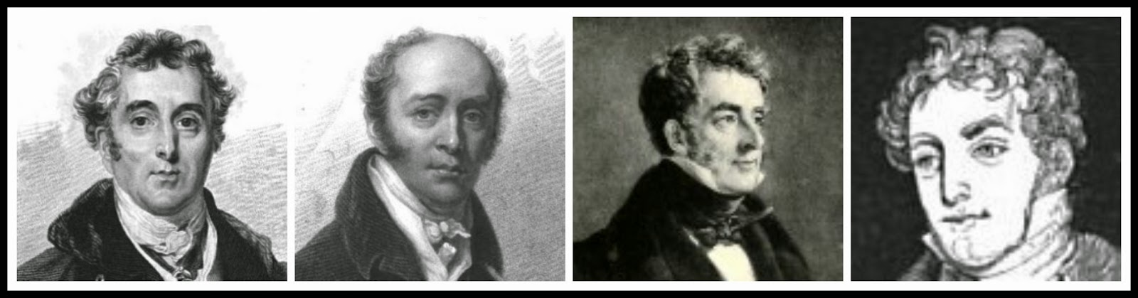 Prime Ministers of William IV  Left to right: Duke of Wellington, Earl Grey, Viscount Melbourne, Sir Robert Peel (2)