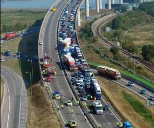 100-vehicle crash: Massive car crash in UK leaves 8 seriously hurt, none dead