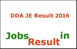 DDA JE Result 2016
