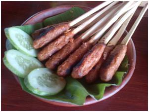 Makananan Khas Indonesia Sate khas lombok