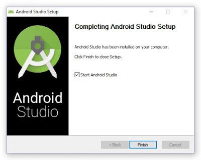 Android Studio Finish installation