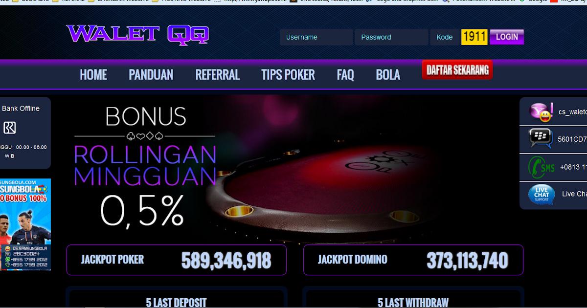 Agen Dominoqq Poker Online Terpercaya Waletqq Agen Poker Online Dominoqq