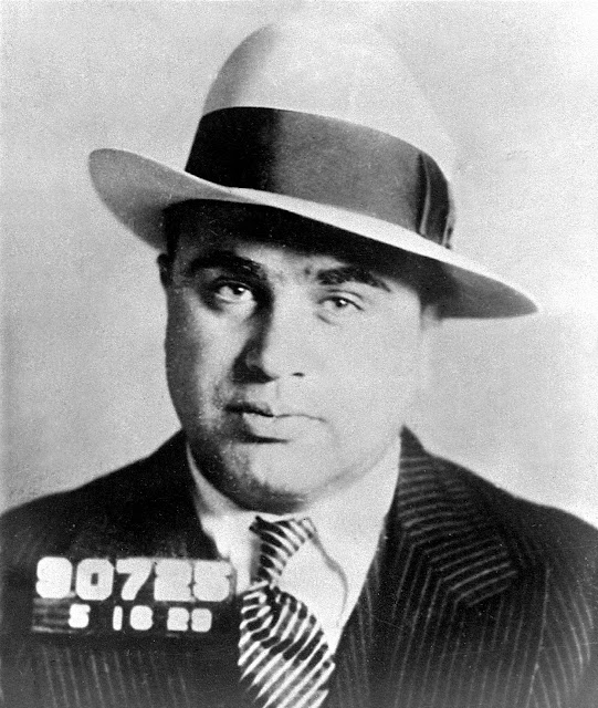 Mugshot of Al Capone after being arrested in Philadelphia on a concealed weapons charge (May 16, 1929)