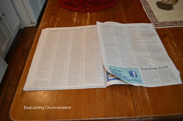 A newspaper on a table