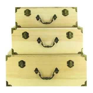 muddy footprints graphic 45 style nesting wooden box set. Black Bedroom Furniture Sets. Home Design Ideas