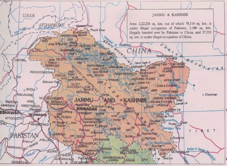 jammu and kashmir detailed map