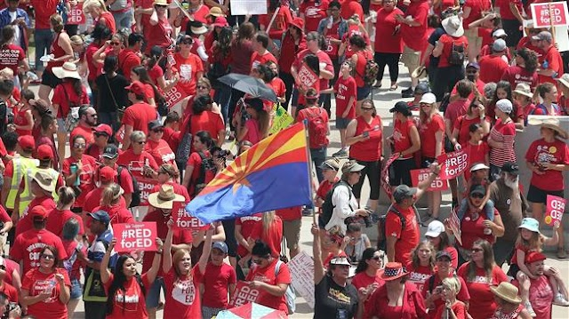 US: Colorado, Arizona teachers rally for second day over pay, funding
