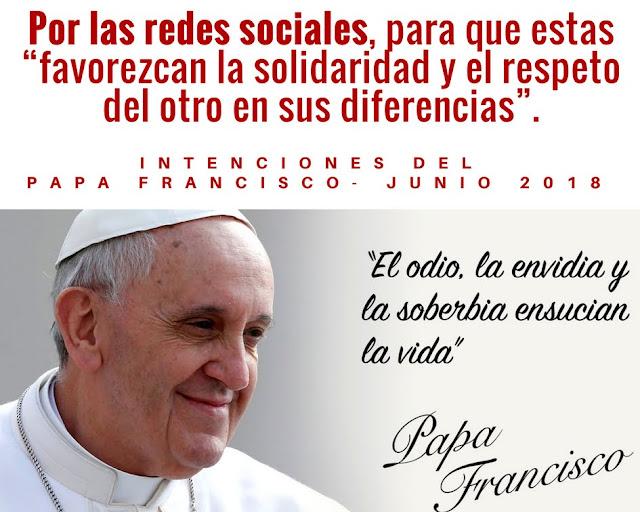 Resultado de imagen para imagenes de intenciones del papa junio2018