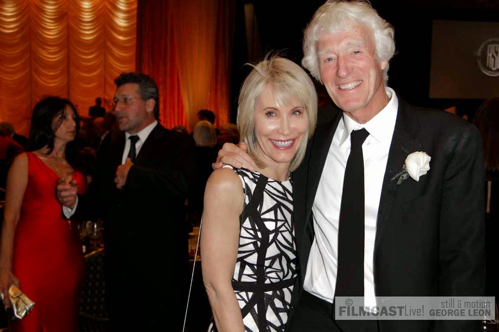 Roger Deakins, ASC BSC with wife at ASC Awards for Unbroken  © george leon / filmcastlive