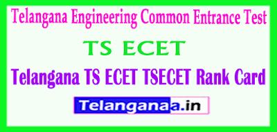 Telangana ECET TSECET 2019 Rank Cards Download