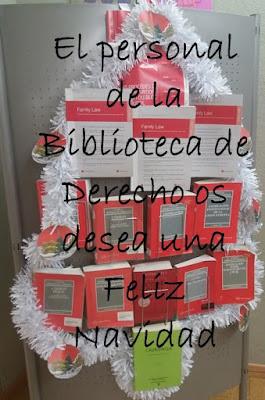 Feliz Navidad 2018 de la Biblioteca de Derecho
