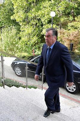 President of Tajikistan Emomali Rahmon in Sochi.