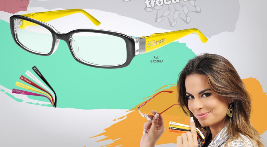 b0092733fb9be Garota Multifuncional  Óculos Champion troca-hastes!