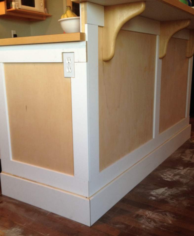 Adding Molding To Kitchen Cabinet Doors: Project DIY Kitchen Makeover