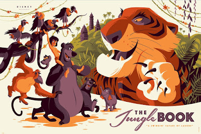 Jungle Book Disney Screen Print by Tom Whalen x Cyclops Print Works