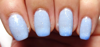 Blue Thermal Nails