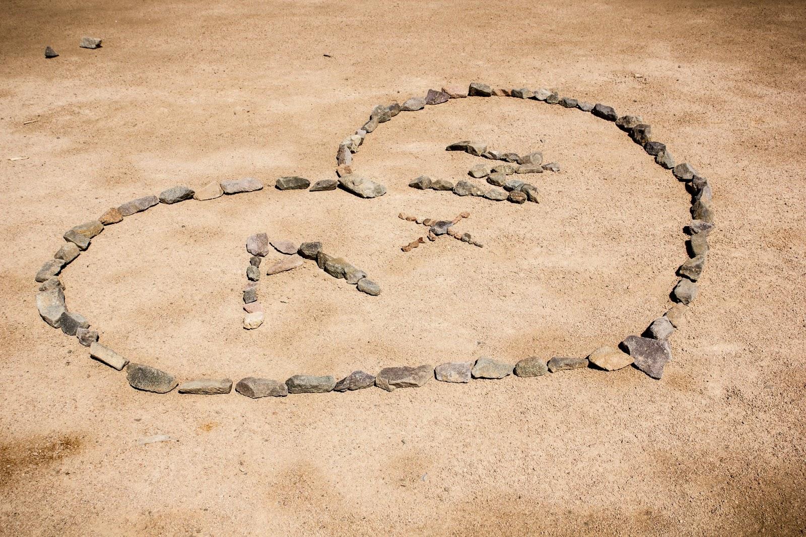 Serduszko na plaży.