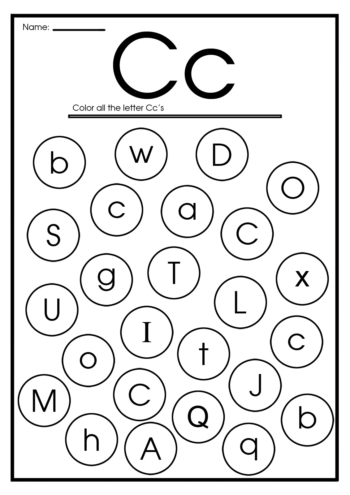 Caterpillar Circle Worksheet