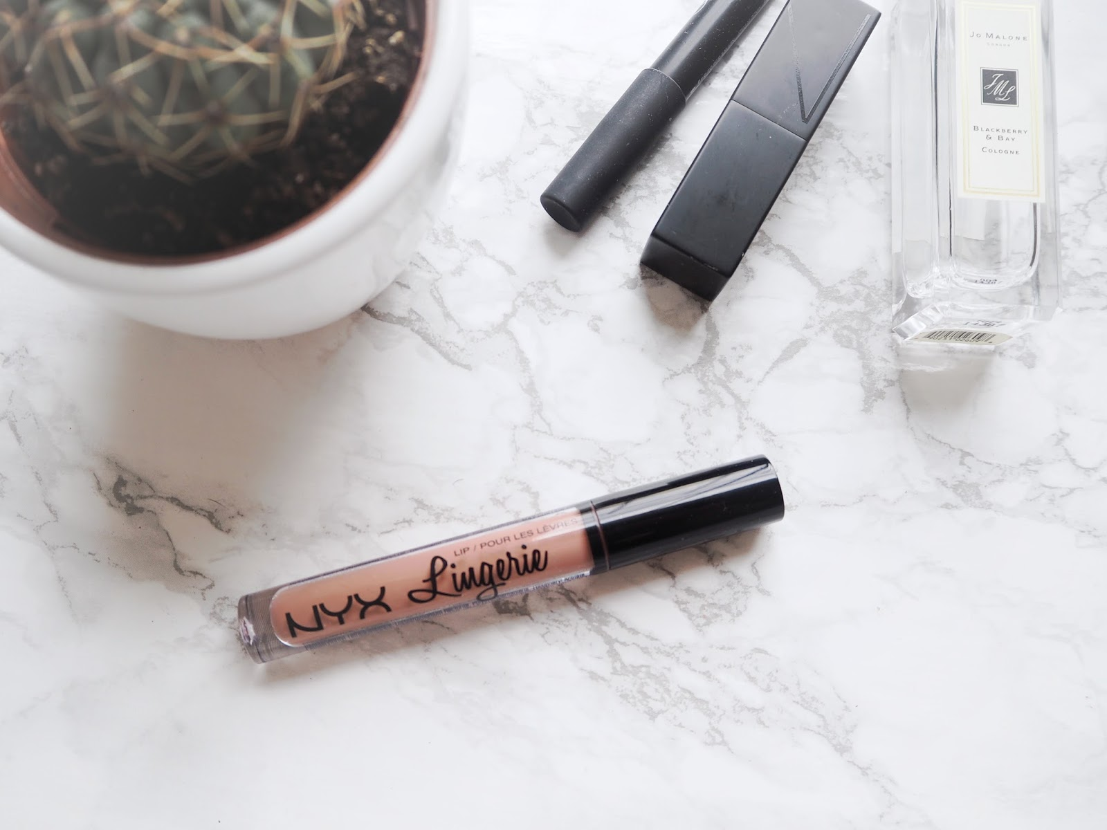 NYX Lip Lingerie Review - Bedtime Flirt, nyx liquid lipstick review, swatches
