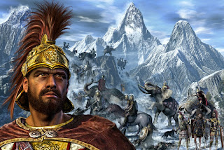 المكان الذي عبر منه هانيبال Hannibal جبال الألب لمواجهة الإمبراطورية الرومانية