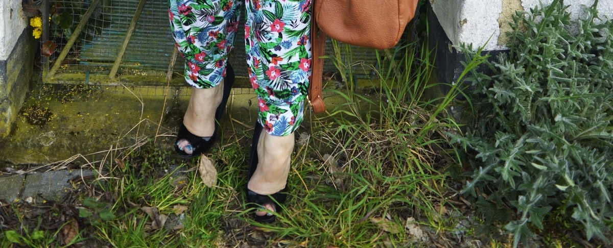 Harem pants & blouse shoes