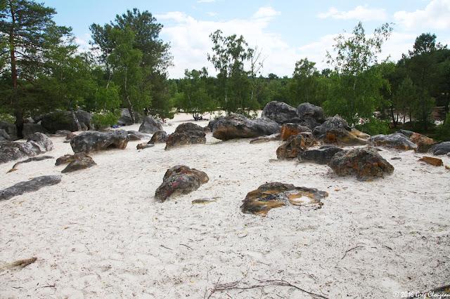 Aux portes des Sables du Cul de chien, les étanges rochers orangers du 91.1 Trois Pignons, (C) Greg Clouzeau